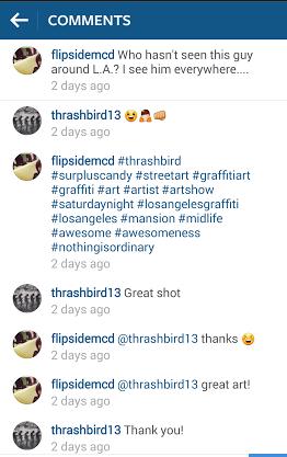 Thrashbird instagram convo