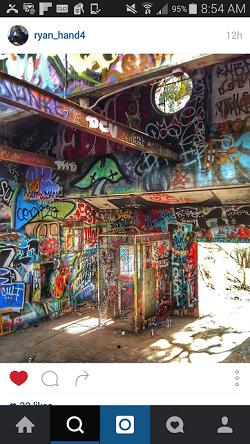 Graffiti inside